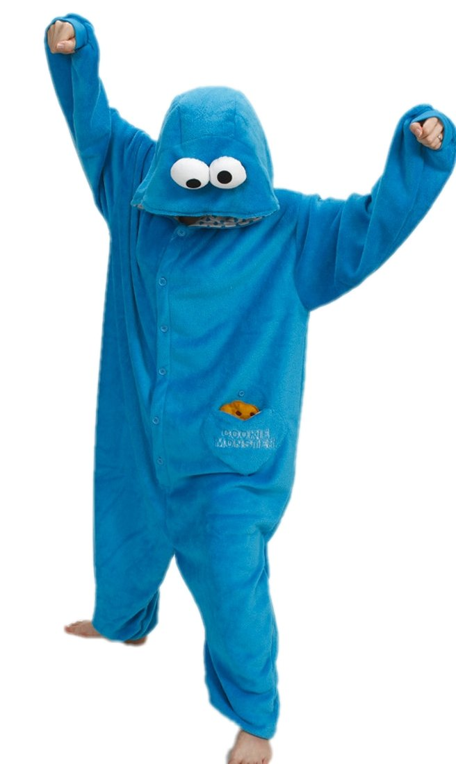 Cookie Monster Kigurumi Pajamas Anime Costume