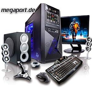 GAMING-PC Computer Quad-Core AMD FX-Series Bulldozer FX-4100 Turbo 4x3.7 GHz | Nvidia GeForce GT630 4 GB | 250GB SATA Festplatte | 8 GB RAM 1333 MHz | DVD Brenner 22x | 7.1 Sound | 6x USB 2.0 | GBit LAN |400 Watt Silent Netzteil | Gamer PC