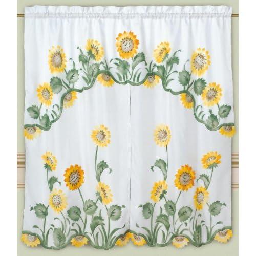 Pin Sunflower Kitchen Curtain