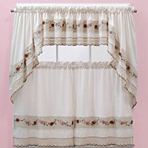 Amazon.com: Vienna Rose Kitchen Curtains