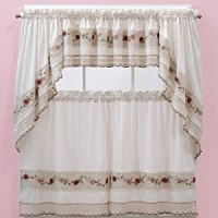 Amazon.com: Vienna Rose Kitchen Curtains - Swags: Home ...