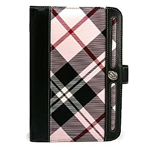 Barnes and Noble Nook Color Accessories Kit: Award Winning Pink Plaid eBook Reader Cover + Compatible Pink Nook Color Earphones + Live * Laugh * Love Vangoddy Wrist Band!!!