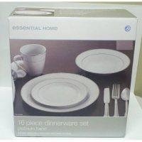 Amazon.com | Essential Home 16 Pc Dinnerware Set Platinum ...