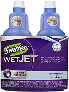 Swiffer Wetjet Spray Mop Floor Cleaner Open Window Fresh Scent Multi-Purpose Solution, 42.2 OZ, 2 Bottles
