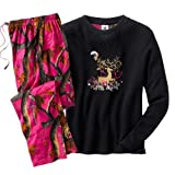 Legendary Whitetails Women's God's Country Camo Moonstruck Lounge Set Rose Small