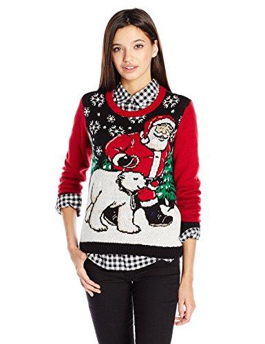 Ugly-Christmas-Sweater-Juniors-Light-Up-Santa-and-Polar-Bear-Pullover