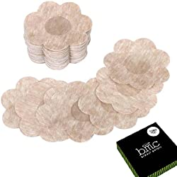 BMC 40 Pair Womens Flower Shaped Adhesive No Show Disposable Nipple Cover Breast Petal Pasties