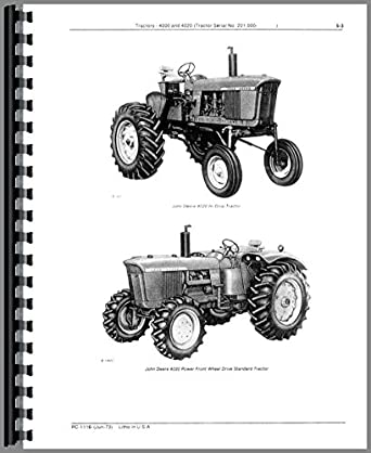 Amazon.com: John Deere 4020 Tractor Parts Manual