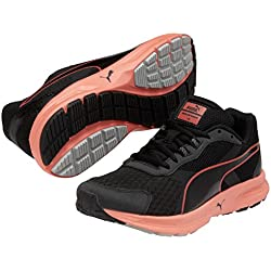 Puma Descendant v3 Wn, Damen Laufschuhe, Schwarz (black-fiery coral-gray violet 05), 40 EU (6.5 Damen UK)