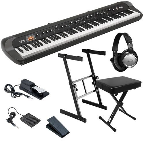 Korg SV-1 88 Stage Piano ESSENTIALS BUNDLE w/ Stand, Bench & Pedals