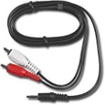 Dynex 3.5 mm Mini to RCA Stereo Audio Cable – 6-Feet – 1.8 M for $1.93 + Shipping