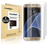 [3D Full Coverage] Galaxy S7 Edge Pellicola Protettiva, iVoler® [2-Pack] da Bordo a Bordo Completo Schermo Bordo Curvo HD Cristallo Screen Protector film per Samsung Galaxy S7 Edge- Shockproof, Trasparenza ad alta definizione,  Facile da installare- Garanzia a vita