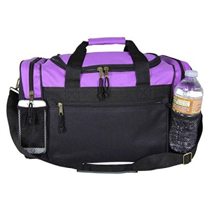 DALIX-17-Duffle-Travel-Bag-with-Water-Bottle-Mesh-Pockets-in-Purple