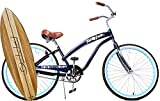 "Anti-Rust Aluminum frame, Fito Modena II Alloy Single 1-speed - Midnight Blue, women's 26"" Beach Cruiser Bike Bicycle"