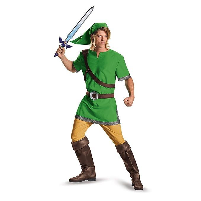 Disguise Men's Link Classic Adult Costume, Green, Medium