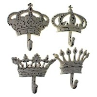 "Amazon.com: Decorative Crown Wall Hooks, Set of 4, 5"" X 5 ..."