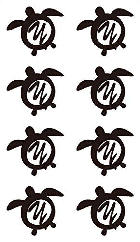nc-smile イニシャル ハワイアン ホヌ 英字 アルファベット デコレーション シール ステッカー Y ブラック