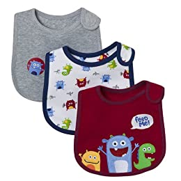 Product Image Just One Year- 3pk Bib - Red Monster