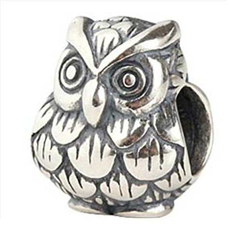 Owl Harry Potter Fan Authentic 925 Sterling Silver Bead Fits Pandora Charms