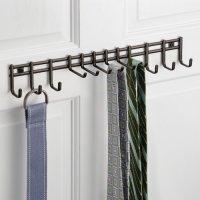 InterDesign Axis Wall Mount Closet Organizer Rack for Ties ...