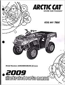 2009 Arctic Cat ATV 650 H1 TBX Parts manual P/N 2258-645