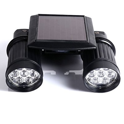 GenLed-Solar-Powered-Spot-Light-14-LED-Dual-Head-Spotlight-with-PIR-Motion-Sensor-Trigged-Wall-Security-Light-for-DrivewaysCarports-and-More-Places-Black