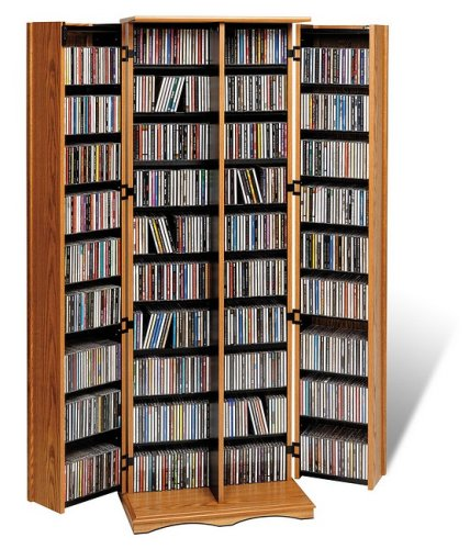 Buy Low Price Oak Mission Style Large Media Storage