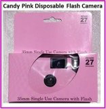 10-Candy-Pink-disposable-flash-cameras-can-be-used-for-wedding-birthday-baby-shower-anniversary-or-any-party-Pretty-Plain-design-35mm-27exposures