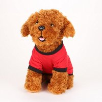 Commoditier Red Umbrella Dog T-shirt Summer Puppy Clothes ...