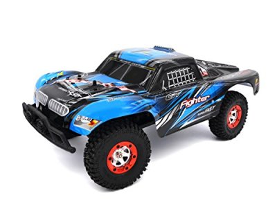 Zerospace-Keliwow-112-Off-road-Car-4WD-24G-Remote-Control-RC-Car-RTR-Fighter-1-with-Two-Car-Shell-Red-and-Blue