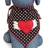 Winged Heart Dog Bandana Kerchief (Medium)
