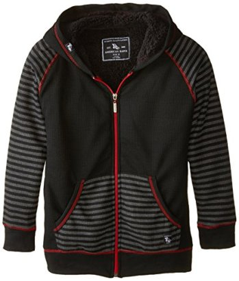 American-Hawk-Big-Boys-Thermal-Hooded-Jacket-with-Faux-Shearling-Lining