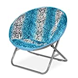 teal faux fur saucer chair skirted dining room chairs upc 784857613865 cocoon leopard ombre product image for rock your