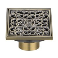 Angle Simple W102 Brass Square Design Tile-In Shower Drain ...