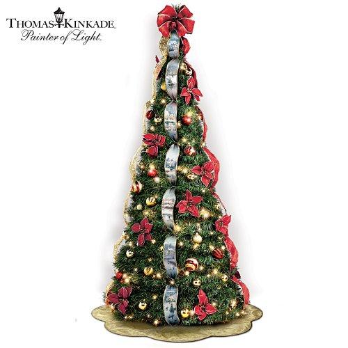 gt Cheap Thomas Kinkade PreLit PullUp Christmas Tree