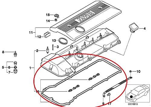 >>>Sale BMW E46 325i 330i Valve Cover Gasket Set Your