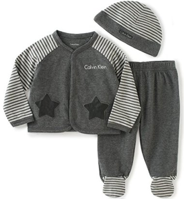Calvin-Klein-Baby-Cardigan-With-Footed-Pants-Set-Gray-0-3-Months