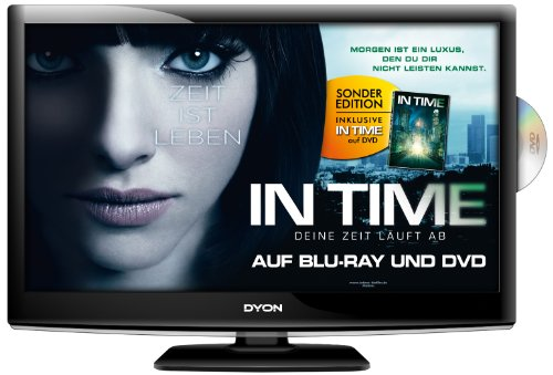 DYON Sigma 24, 60 cm (23,6 Zoll) LED-Backlight-Fernseher, Energieeffizienzklasse A (Full HD, DVB-T/S2, CI, DVD Player) In Time-Movie Edition inkl. DVD