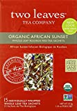 Two Leaves Tea Company Organic African Sunset Red Tea, 15-Count Boxes (Pack of 6)