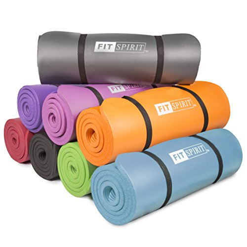Fit Spirit Half Inch NBR Exercise Fitness Yoga Mat