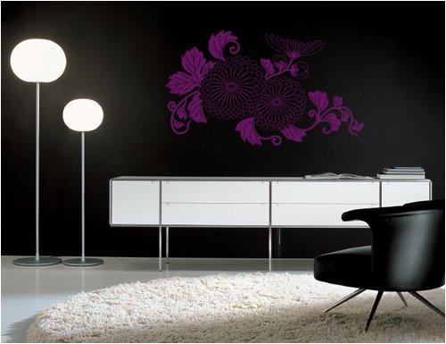 Blumenranke, Größe: L, Maße: 110 cm X 65 cm, Farbe: Lila