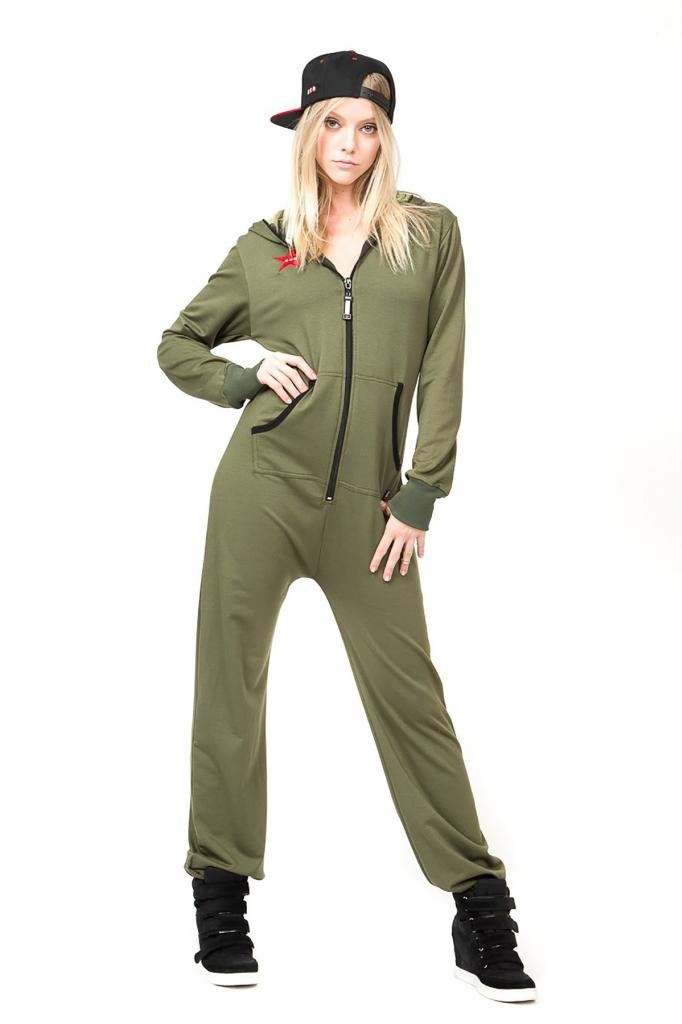 Classic Womens Onesie/Jumpsuit Casual Fashion One Piece Sweatsuit