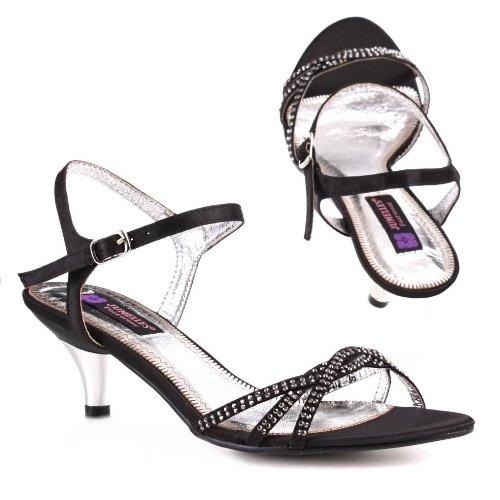 Damen Schuhe, PUMPS, SANDALETTEN, 159-02, Satin