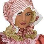 Little House on The Prairie Gingham Bonnet Costume Hat
