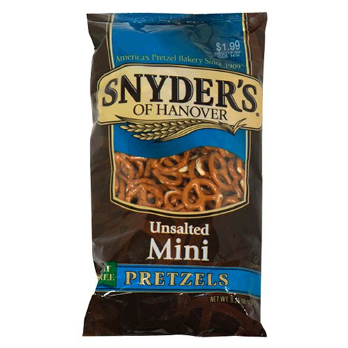 Galleon Snyder39s Of Hanover Mini Pretzels Unsalted 9