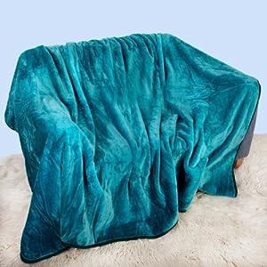 Amazoncom Plush Thick Very Warm Luxury Double Mink