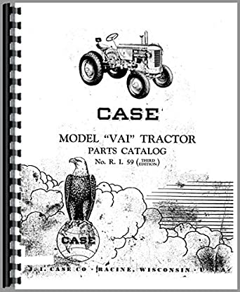Case VAI Tractor Parts Manual: Amazon.com: Industrial