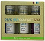Salt 424 Three Grinder Pack 100% Organic Salts, Black Pepper, Garlic and Wild Fire, 25.11 Ounce