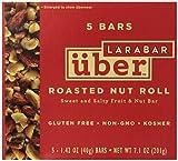LARABAR Uber, Roasted Nut Roll, Gluten Free, 1.42 oz Bars, (Pack of 5)