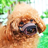 ViCreate Adjustable Puppy Pattern Sponge-padded Bite Bit Stop Muzzle for Pets Dogs , XS
